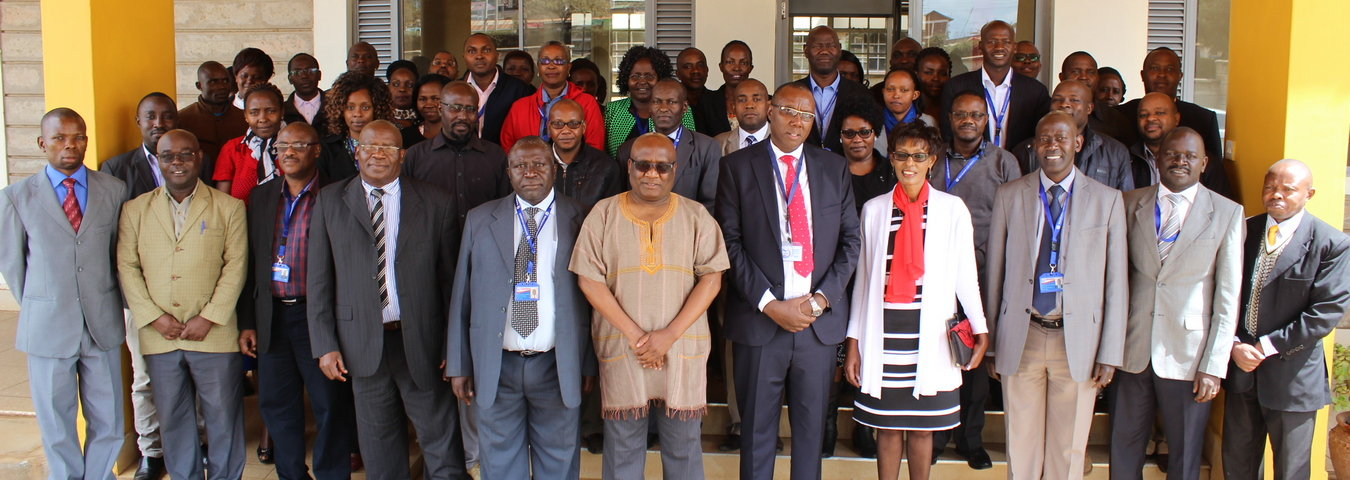 Dr. Makambi at Machakos University in Kenya